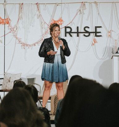 Jessica Honegger speaking at Rise Conference